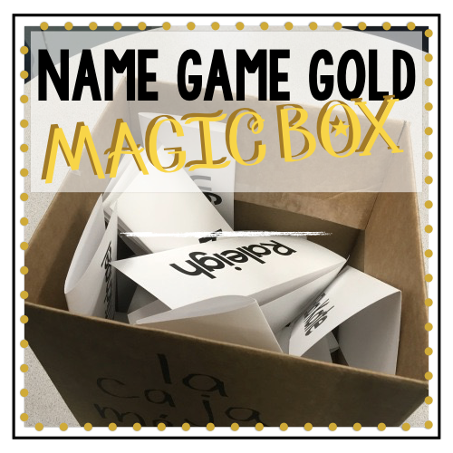 Name Game Gold: The MAGIC BOX